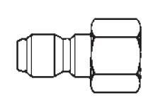 # 12FPB - FST Series - Straight-Thru Type - Female Thread - Plug - Brass - 1/8 in.