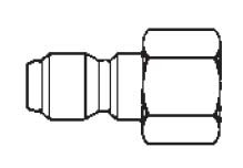 # 12FPS - FST Series - Straight-Thru Type - Female Thread - Plug - 303 Stainless Steel - 1/8 in.