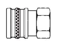 # 38FSS - FST Series - Straight-Thru Type - Female Thread - Socket - 303 Stainless Steel - 3/8 in.