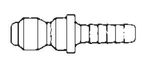 # 25HP - FST Series - Straight-Thru Type - Hose Stem - Plug - Steel - 1/4 in.