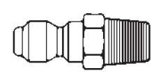 # 12MP - FST Series - Straight-Thru Type - Male Thread - Plug - Steel - 1/8 in.