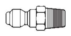 # 75MPS - FST Series - Straight-Thru Type - Male Thread - Plug - 303 Stainless Steel - 3/4 in.