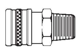# 12MS - FST Series - Straight-Thru Type - Male Thread - Socket - Brass - 1/8 in.