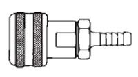 3/8 in. One Way Shut-Off - Hose Stem (Require Hose Clamps) - Automatic - Socket