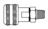 # FM3303 - 1/4 in. One Way Shut-Off - Male Thread - Automatic - Socket - 3/8 in.