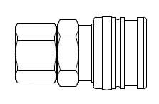 # O-3003 - O60 Series 1/4 in. - Female Thread - Manual Socket - 1/4 in.