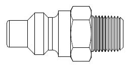 O60 Series 1/4 in. - Male Thread - Plug