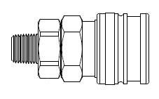 # O-3303 - O60 Series 1/4 in. - Male Thread - Manual Socket - 3/8 in.