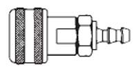 # FM1513 - 1/4 in. One Way Shut-Off - Push-On Hose Stem - Automatic - Socket - 1/4 in.