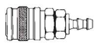 # 1814 - 3/8 in. One Way Shut-Off - Push-On Hose Stem - Manual - Socket - 1/2 in.