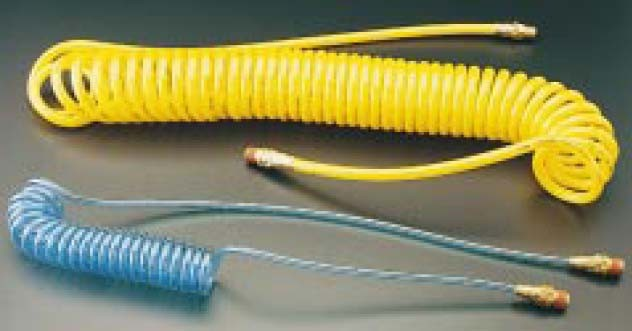 FPR38-15A-T - Polyurethane Recoil Hose - ID x OD: 3/8 in. x 9/16 in. - Length: 15 ft. - Transparent Blue