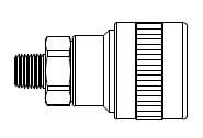 # SHD3303S/S - SHD3 Series 1/4 in. - Male Thread - Automatic Socket - 303 Stainless Steel - 3/8 in.