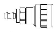 SHD3 Series 1/4 in. - Push-On Hose Stem - Automatic Socket