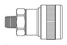 # SHD5105 - SHD5 Series 1/2 in. - Male Thread - Automatic Socket - 3/8 in.