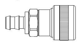 SHD5 Series 1/2 in. - Push-On Hose Stem - Automatic Socket