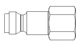 # TF13 - TF3 Series 1/4 in. - Female Thread - Plug - 1/8 in.