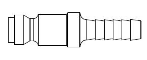 TF3 Series 1/4 in. - Hose Stem (Require Hose Clamps) - Plug