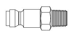 # TF10 - TF3 Series 1/4 in. - Male Thread - Plug - 1/4 in.