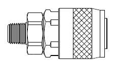 # TF3103 - TF3 Series 1/4 in. - Male Thread - Automatic Socket - Steel - 1/4 in.