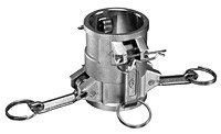 # DD-SS400 - Double Female DD Coupler x Coupler - Stainless Steel - 4 in. x 4 in.