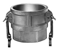 # SS-D200 - Female Coupler - Type D - Stainless Steel - 2 in.