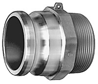 # AL-F100 - Male Adapter - Type F - Aluminum - 1 in.