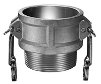# AL-B150 - Male Coupler - Type B - Aluminum - 1-1/2 in.