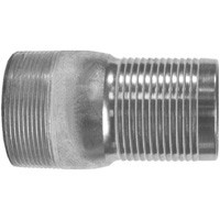 # DIXSTC40 - King Combination Nipples NPT Threaded End with No Knurl - Plated Steel - 4 in.