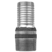 # DIXAST10 - King Combination Nipples NPT Threaded End with Knurled Wrench Grip - Aluminum - 1 in.