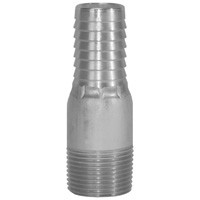 # DIXRST1 - King Combination Nipples NPT Threaded End No Knurl - 316 Stainless Steel - 1/2 in.