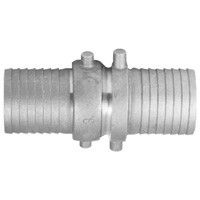 # DIXSB123 - King Short Shank Suction Coupling - Complete with NPSM thread - Plated Iron Shanks with Brass Nut - 4 in.