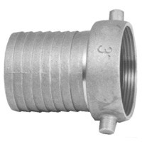 # DIXSB38 - King Short Shank Suction Coupling - Female with NPSM thread - Plated Iron Shanks with Brass Nut - 3 in.