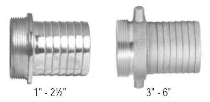 # DIXS36 - King Short Shank Suction Coupling - Male NPSM thread - Plated Iron - 3 in.