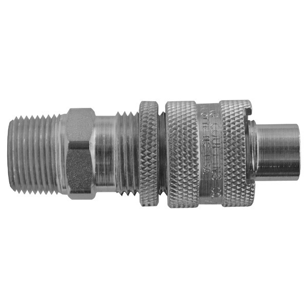 # DIXQM66 - Dix-Lock Quick Acting Couplings - Male Locking Head x Male NPT - Plated Steel - 1/2 in.