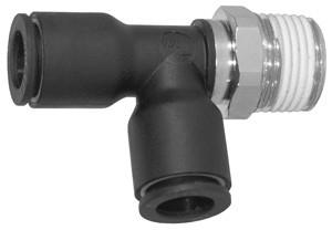 # DIX31035618 - Male Swivel Run Tee (Tube to Male NPT) - Tube O.D.: 1/4 in. - Male NPT: 3/8 in.