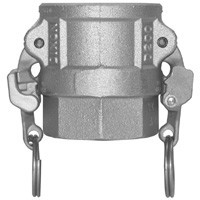 # DIXRD600EZ - Safety Female Coupler - Type D - Stainless Steel - 6 in.