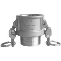 # DIXRB100EZ - Safety Male Coupler - Type B - Stainless Steel - 1 in.