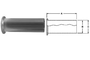 # SAN14MPHT-R200 - Tygon Hose Adapters - 316L Stainless Steel - Tube OD: 2 in.