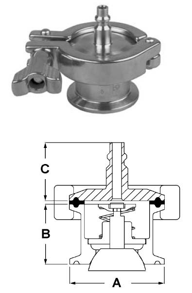 # SANB45AB-R100150 - Ball Check Valves Quick Disconnect - 316L Stainless Steel - 1 in. - 1-1/2 in.