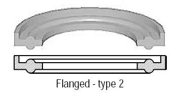 # SAN40MPF-UW250 - Buna-N Flanged Clamp Gasket - White - 2-1/2 in.