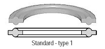 # SAN40MP-SFY100 - Viton Clamp Gasket - Black - 1 in.