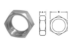 # SAN13H-G250 - Hex Union Nuts - 304 Stainless Steel - 2-1/2 in.