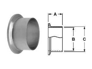 # SANL14AM7-R50 - Long Weld Ferrules - 316L Stainless Steel - 1/2 in.