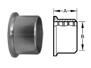 # SAN14RMP-R400 - Roll-On Expanding Ferrules - 316L Stainless Steel - 4 in.