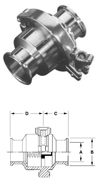 # SANB45MP-R50 - Spring Check Valves - 316L Stainless Steel - 1/2 in.