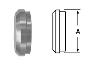 # SAN16A-G250 - Plain Bevel Seat Solid End Caps - 304 Stainless Steel - 2-1/2 in.