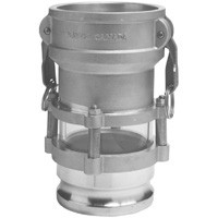 # DIX3534CA - In-Line Sight Glass for Bulk Transfer - Coupler x Adapter - 3 in. x 4 in.