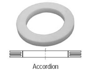 # DIX125GTFACC - Accordion Teflon Cam and Groove Gasket - Silicone - 1-1/4 in.