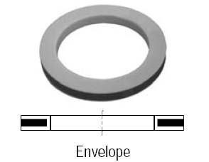 # DIX75-G-TF - Envelope Teflon Cam and Groove Gasket - Buna Filler - 3/4 in.