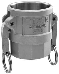 # DIX600-D-ALH - Dixon Type D Couplers female coupler x female NPT - Aluminum Hard Coat - 6 in.